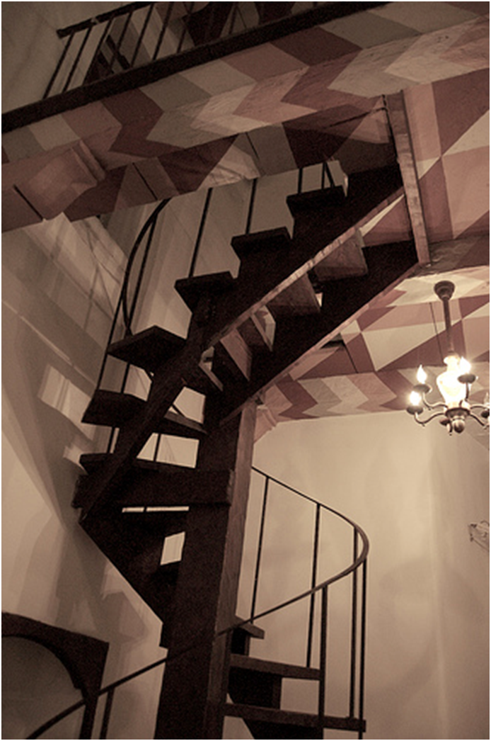 Spiral staircases are the best choice for providing access to mezzanine floors