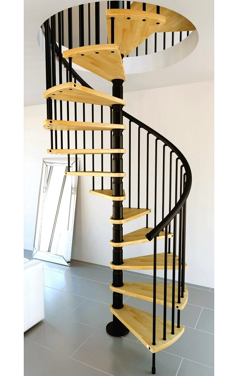 Front Elevation Of Spiral Staircase : The lowdown on spiral staircase kits stairs