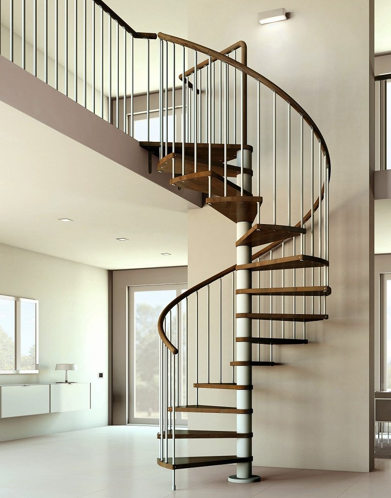 Artemis Spiral Staircase in Dark Walnut