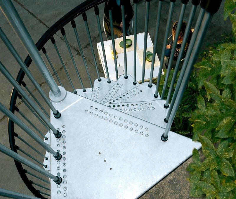 Civik Zink exterior spiral staircase