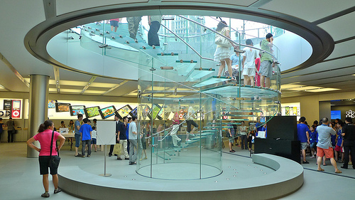 Spiral Staircases Make A Wonderful Edition To All Retail Stores.