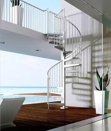 Neptune Exterior Spiral Staircase