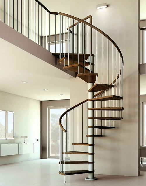 A spiral staircase adds useful extra functionality to any home