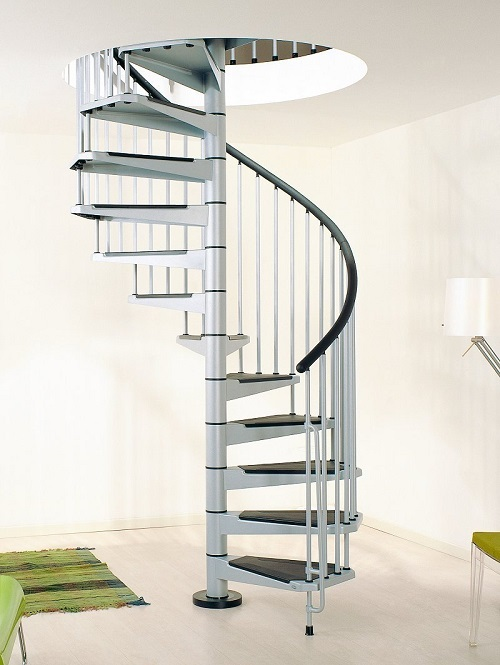 A Civik Spiral Staircase adds a touch of elegance in any home