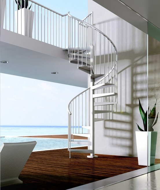 Ideal Locations to Install an Exterior Spiral Staircase