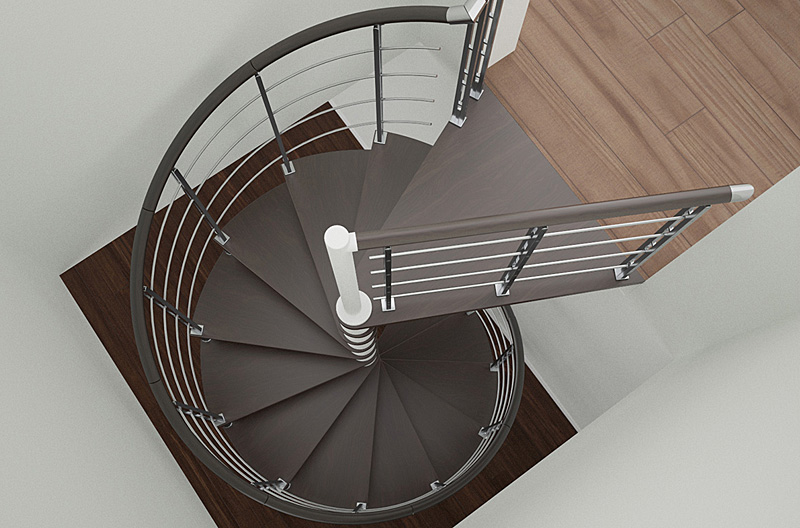 Open up new spectacular views with a spiral staircase