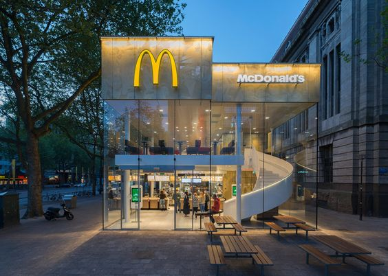 This McDonalds restaurant boasts an impressive looking spiral staircase