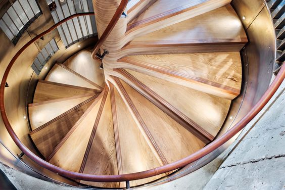 A spiral staircase which is a feature of the Nando's restaurant in Harrogate, West Yorkshire