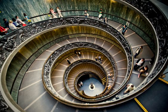 The staircase at the Vatican Museum is amongst the most famous in the world