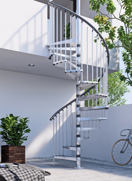 Gamia Zink spiral staircase – the best choice Exterior spiral for the UK!