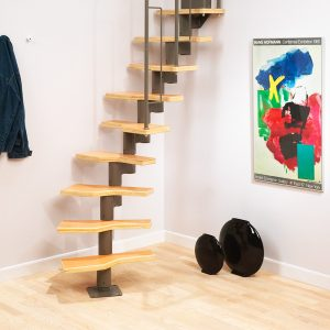 Graz semi-spiral space saver staircase