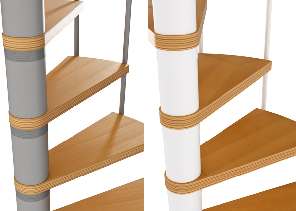 Available colour options for Calgary Spiral Staircase Kit