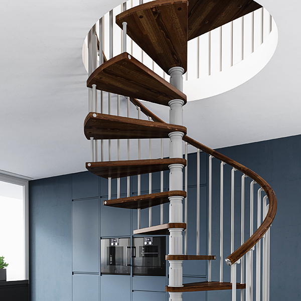 When You Get To The Mid Range Spiral Stairs You Start To See A Wider Choice  Of Colours. For Example In The Gamia Deluxe Range A Choice Of Dark Walnut  For ...